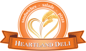 Heartland Deli Logo with pizza
